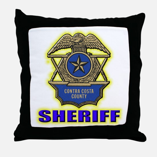 Contra Costa County Sheriff Throw Pillow