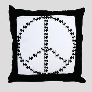 PEACEFUL SCOTS Throw Pillow
