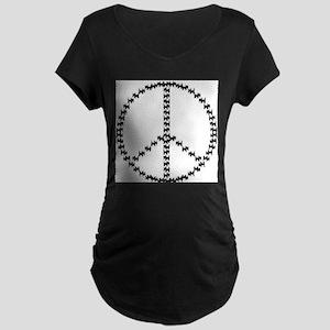 PEACEFUL SCOTS Maternity Dark T-Shirt