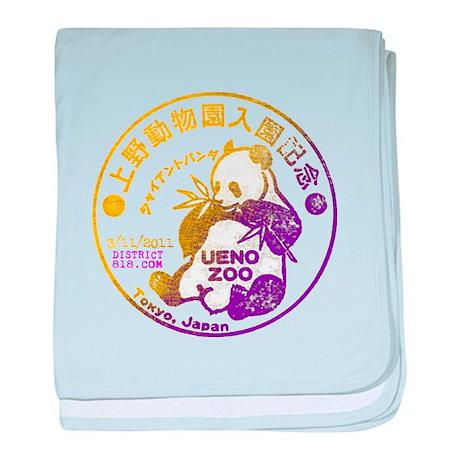 JAPANESE PANDA BEAR STAMP baby blanket