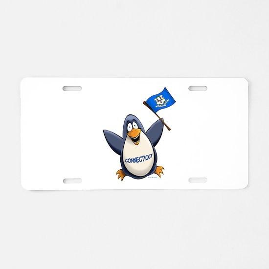 Connecticut Penguin Aluminum License Plate