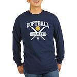 Softball Dad Long Sleeve Dark T-Shirt