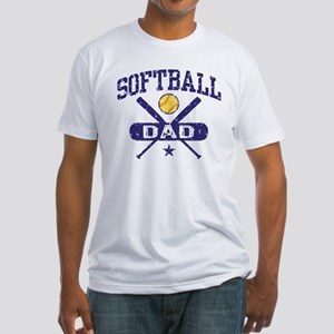 Softball Dad Fitted T-Shirt