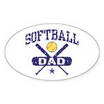 Softball Dad Sticker (Oval)
