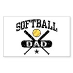 Softball Dad Sticker (Rectangle)