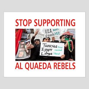 OBAMA HELPING AL QUAEDA Small Poster