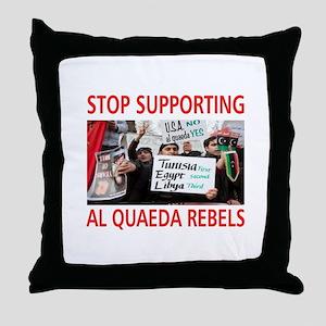 OBAMA HELPING AL QUAEDA Throw Pillow