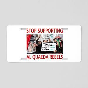 OBAMA HELPING AL QUAEDA Aluminum License Plate