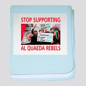 OBAMA HELPING AL QUAEDA baby blanket