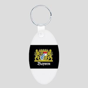Black Bayern Aluminum Oval Keychain