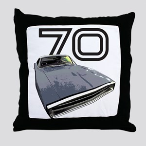 1970 Charger Throw Pillow