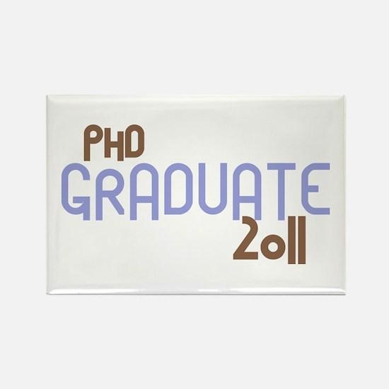 PhD Graduate 2011 (Retro Purple) Rectangle Magnet