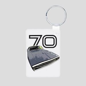 1970 Charger Aluminum Photo Keychain