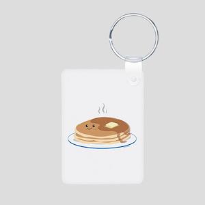 Breakfast Time Aluminum Photo Keychain