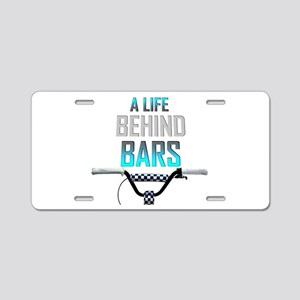 BMX A Life Behind Bars Aluminum License Plate