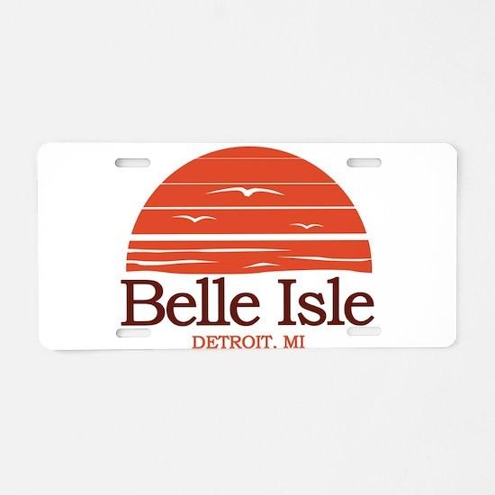 Belle Isle Aluminum License Plate