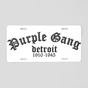 Purple Gang Aluminum License Plate
