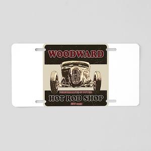 Hot Rod Shop Aluminum License Plate