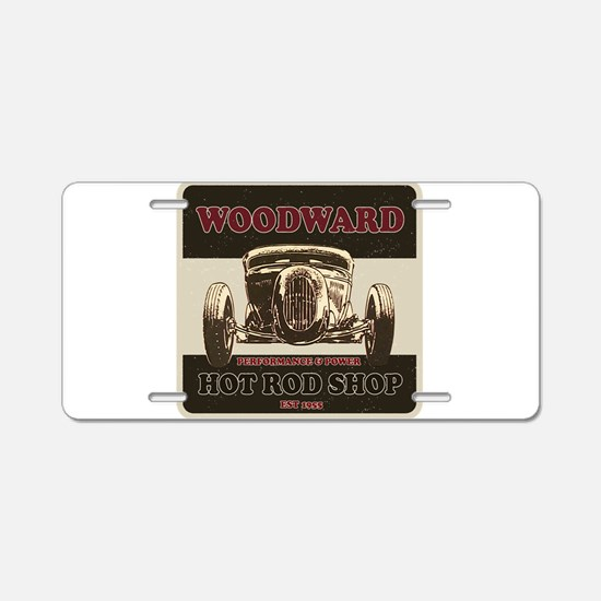 Hot Rod Shop Aluminum License Plate