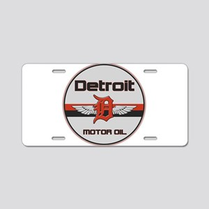 Detroit Motor Oil Aluminum License Plate