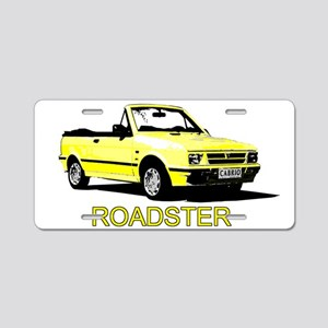 Yugo Roadster Aluminum License Plate