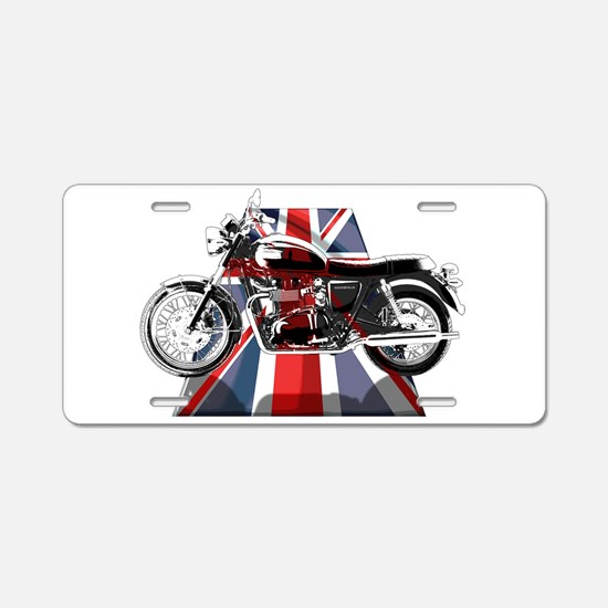 British Bonneville Aluminum License Plate