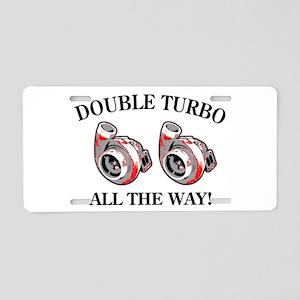 Double Turbo Aluminum License Plate