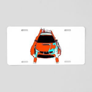 STI Style Aluminum License Plate