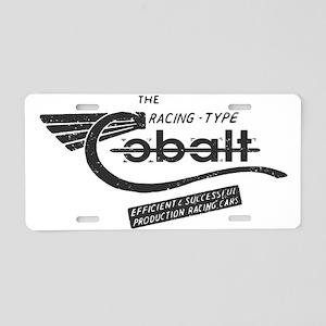 Cobalt Vintage Aluminum License Plate