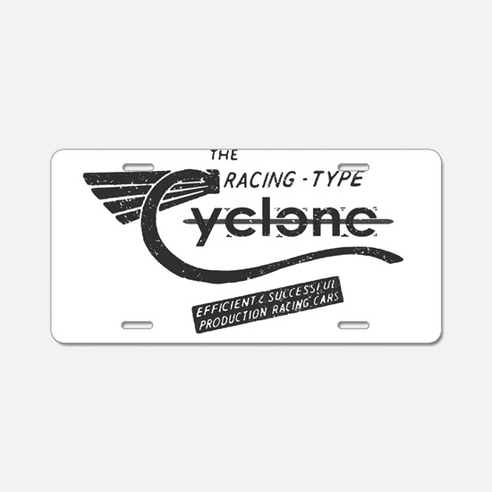 Cyclone Vintage Aluminum License Plate
