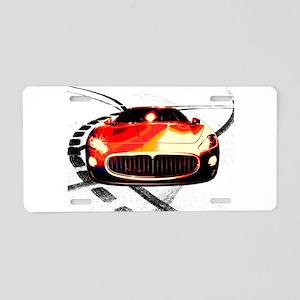 Maserati Style Aluminum License Plate