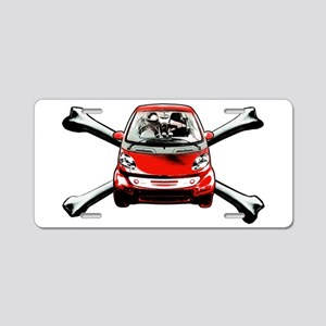 Smart Crossbones Aluminum License Plate