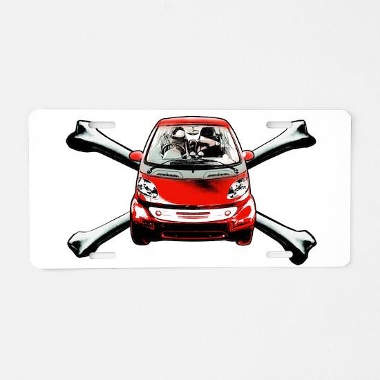 Smart Crossbones Aluminum License Plate