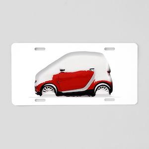 Smart Snow Aluminum License Plate