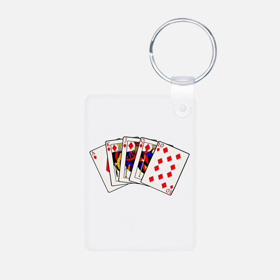 Diamond's Royal Flush Keychains