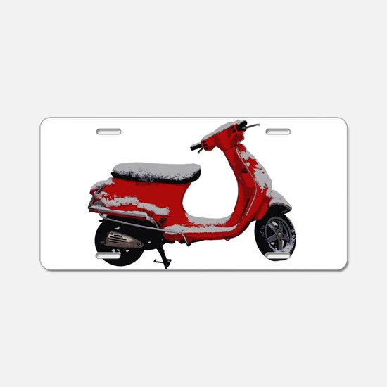 Scooter Snow Aluminum License Plate