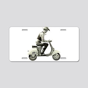 Scooter Cowboy Aluminum License Plate