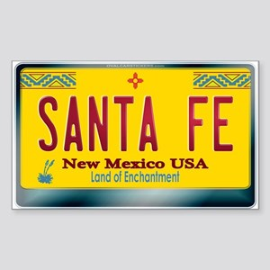 """SANTA FE"" New Mexico License Plate Sticker (Recta"