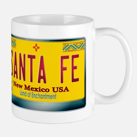 """SANTA FE"" New Mexico License Plate Mug"