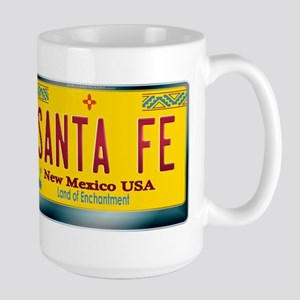 """SANTA FE"" New Mexico License Plate Large Mug"