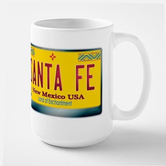 """SANTA FE"" New Mexico License Plate Large Mug"