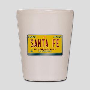 """SANTA FE"" New Mexico License Plate Shot Glass"