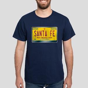 """SANTA FE"" New Mexico License Plate Dark T-Shirt"