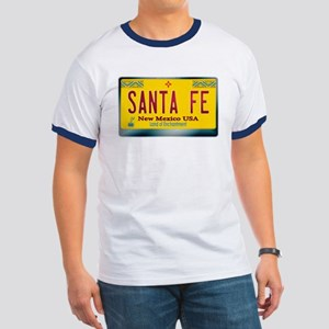 """SANTA FE"" New Mexico License Plate Ringer T"