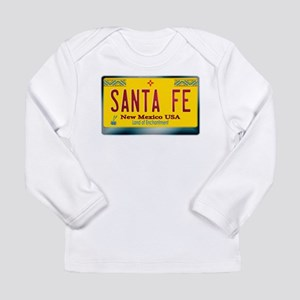 """""""SANTA FE"""" New Mexico License Plate Long Sleeve In"""