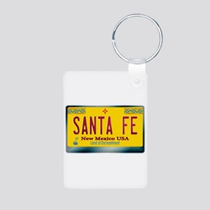 """SANTA FE"" New Mexico License Plate Aluminum Photo"