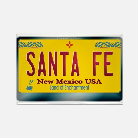 """SANTA FE"" New Mexico License Plate Rectangle Magn"