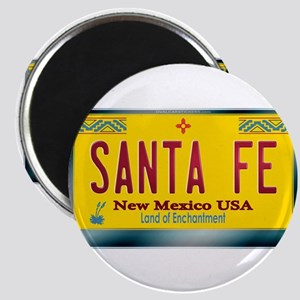 """SANTA FE"" New Mexico License Plate Magnet"