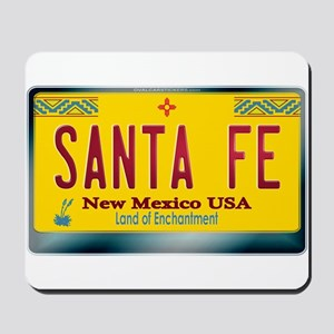 """SANTA FE"" New Mexico License Plate Mousepad"