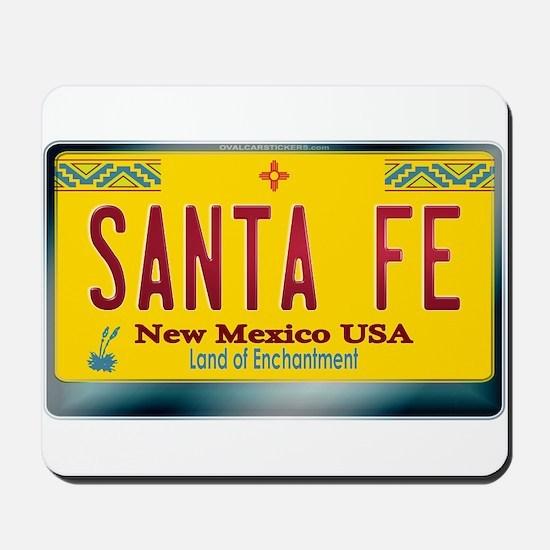 """SANTA FE"" New Mexico License Plate Mousepad"